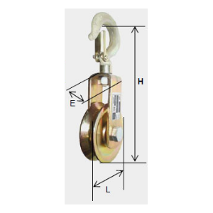 CLEVIS PULLEY FOR CABLE